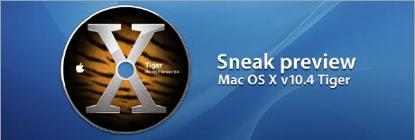 Mac OS X Tiger Preview