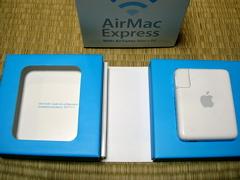 AirMac Expressの箱をあけると