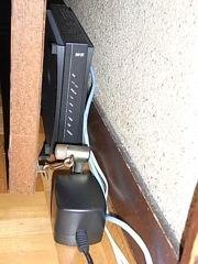ADSLのモデム設置状況