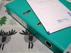 elcoのクッション封筒とBantexのファイル