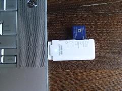 USBスロットに直接差した様子