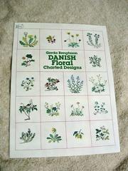 デンマークの花のクロスステッチ