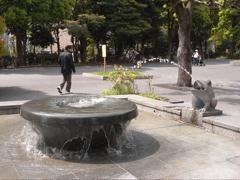 上野公園の蛙噴水