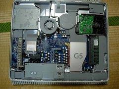 iMac G5を開けたところ