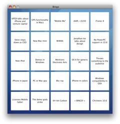 Keynote Bingo WWDC2008
