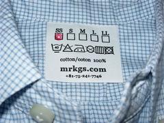 モリカゲシャツのタグ
