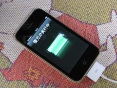 新しいiPhoneにバックアップを復元中