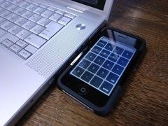 iPhoneをテンキー化したところ
