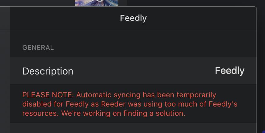 Reeder4feedly