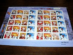 サンタの切手シート