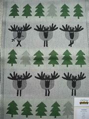 本日のお買い物トナカイ柄の織物タオル